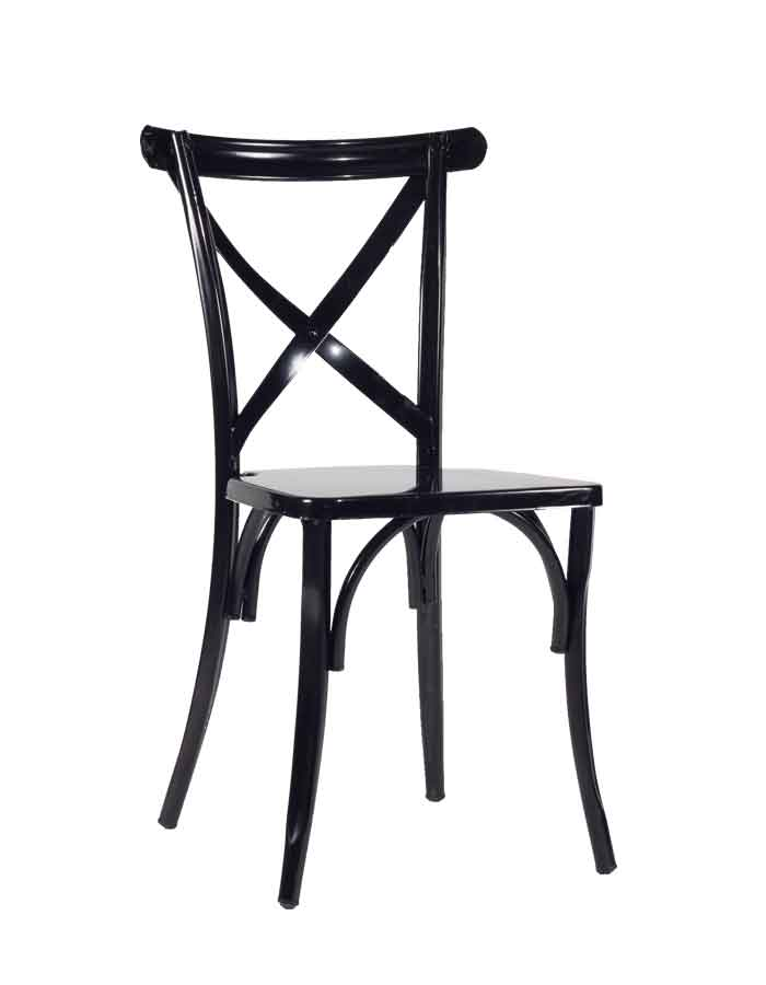 Classic X Back (Crossback) Chair Steel
